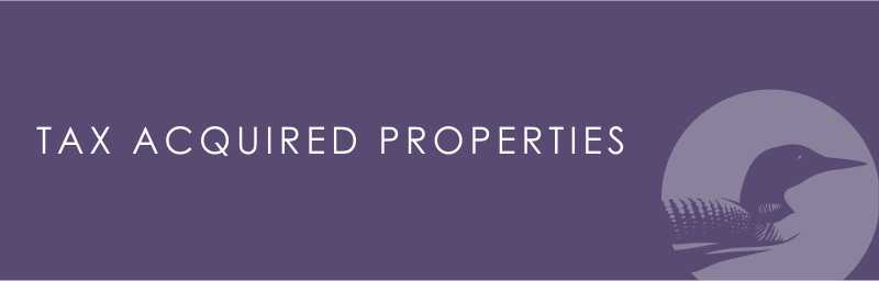 Tax Acquired Property Sale
