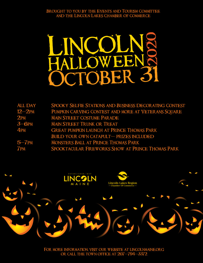 Halloween Lincoln 2020 Community Events – Lincoln, Maine